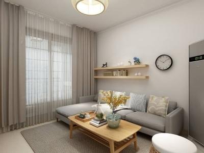 日韩风格-85平米三居室装修样板间