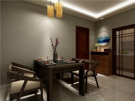 中式古典-93平米三居室整装装修样板间