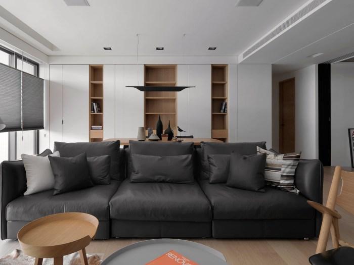 港式风格-112平米三居室-装修样板间