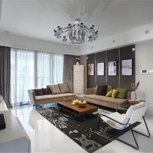 120平现代二居室装修 简洁实用
