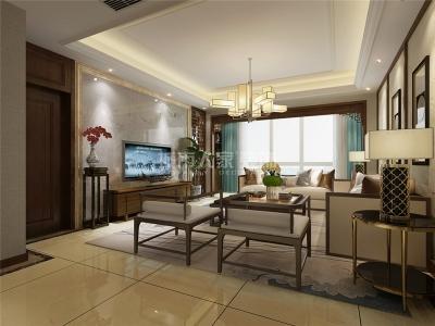 中式风格-177.54平米四居室装修样板间