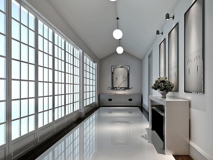 现代简约-420平米别墅-装修样板间