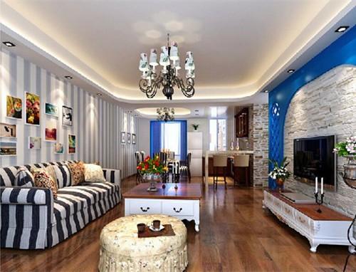 地中海风格-108平米二居室整装-装修样板间