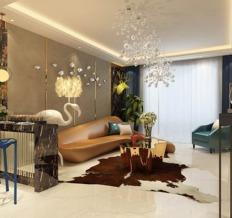 106平米现代简约风格设计装饰案例