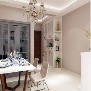简欧风格二居室餐厅装修效果图