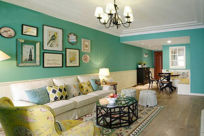 地中海风格-102平米二居室-装修样板间