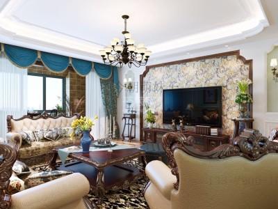 欧美风情-180平米四居室装修样板间