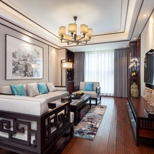 中式风格二居室客厅装修效果图