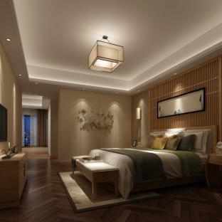 日韩风格四居室卧室装修效果图