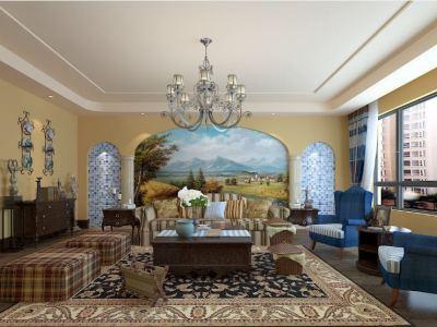地中海风格-150平米三居室装修样板间