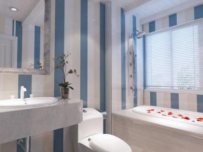 简美风格-118平米二居室装修样板间