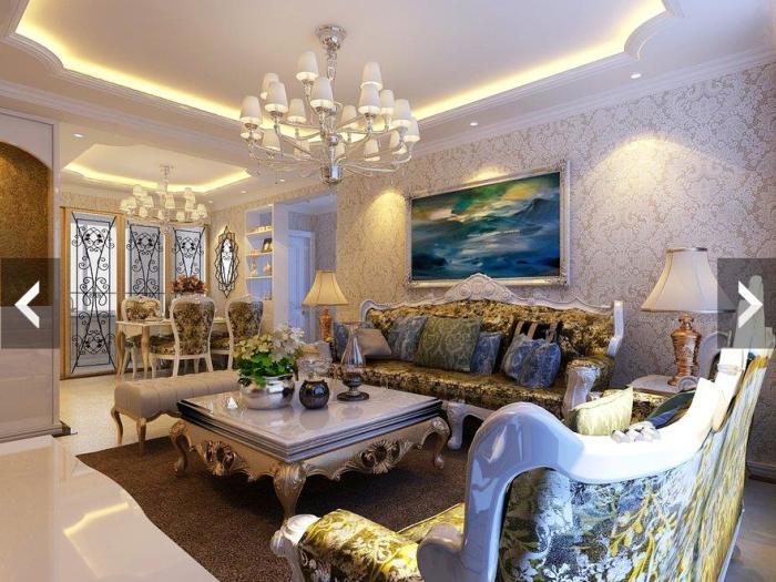 欧美风情-102平米三居室-装修样板间