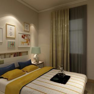 简欧风格二居室卧室装修效果图