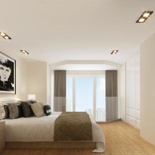 现代简约一居室卧室装修效果图