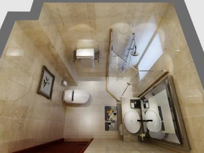 新中式风格-120平米四居室装修样板间