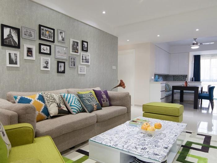 北欧风格-108平米三居室-装修设计