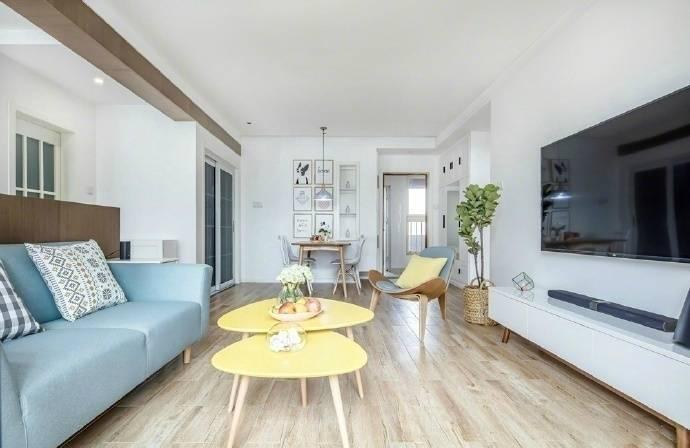 简北欧风格-100平米二居室整装-装修样板间