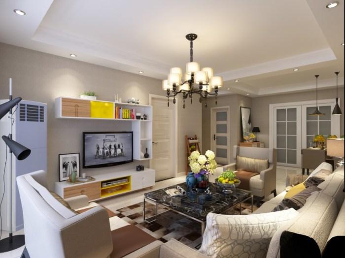现代风格-113平米三居室-装修样板间