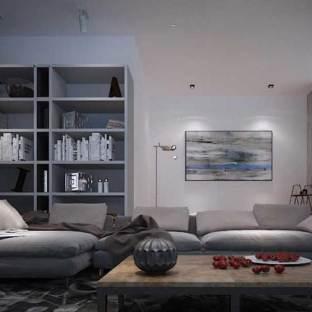 loft风格三居室装修效果图