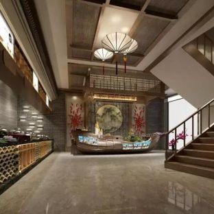中式古典复式玄关装修效果图