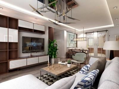 现代风格-127平米三居室装修样板间