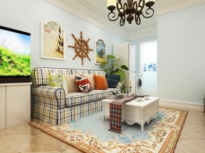 地中海风格-61平米二居室装修样板间