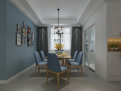 新中式风格-156平米三居室装修样板间