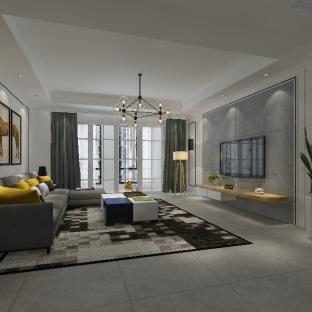 新中式风格三居室客厅装修效果图