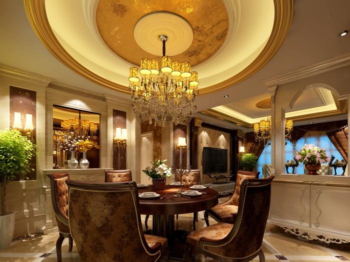西式古典-170平米四居室-装修样板间