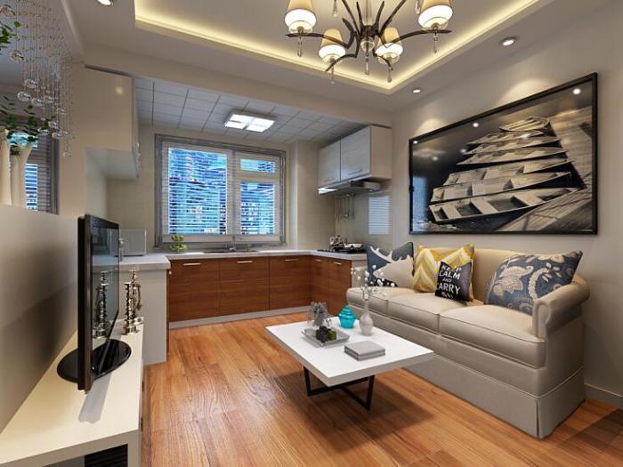 现代简约-50平米一居室-装修样板间