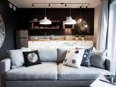 西式古典-50平米一居室装修样板间