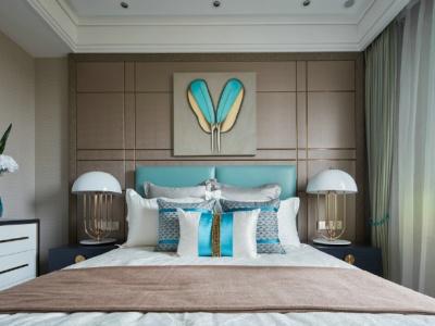 现代与新古典混搭风格-102平米三居室装修样板间