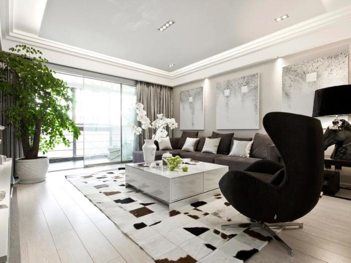 现代简约-109平米三居室-装修样板间