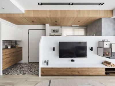 北欧风格-116平米三居室装修样板间