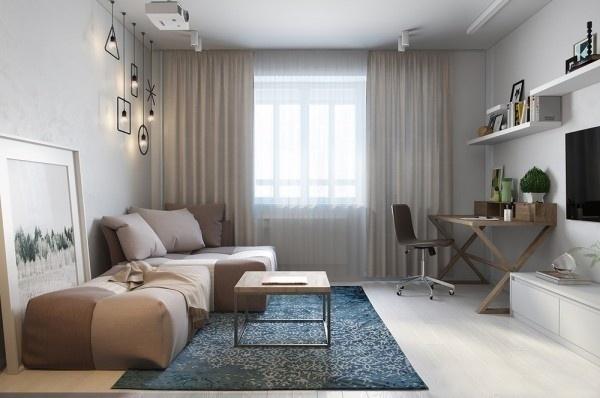 现代简约-0平米一居室-装修样板间