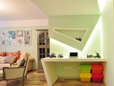 简美混搭-90平米二居室装修样板间