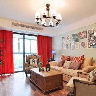 简美混搭二居室客厅装修效果图