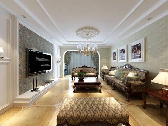 美式风格-170平米四居室-装修样板间