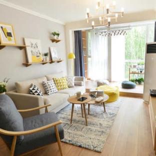 日韩风格一居室客厅装修效果图