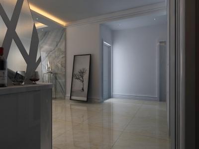 后现代风格-120平米三居室装修样板间