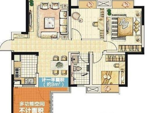 台式港式风格-80平米二居室-装修设计