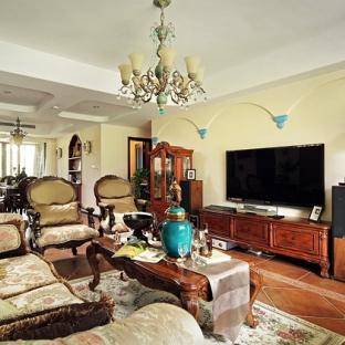 地中海风格四居室客厅装修效果图