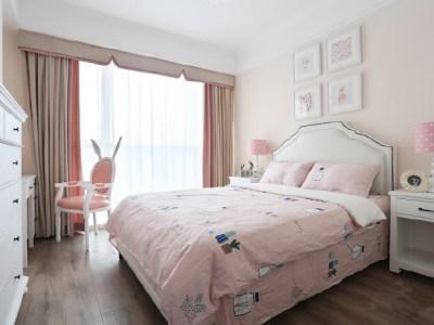 欧美风情-114平米二居室整装装修样板间