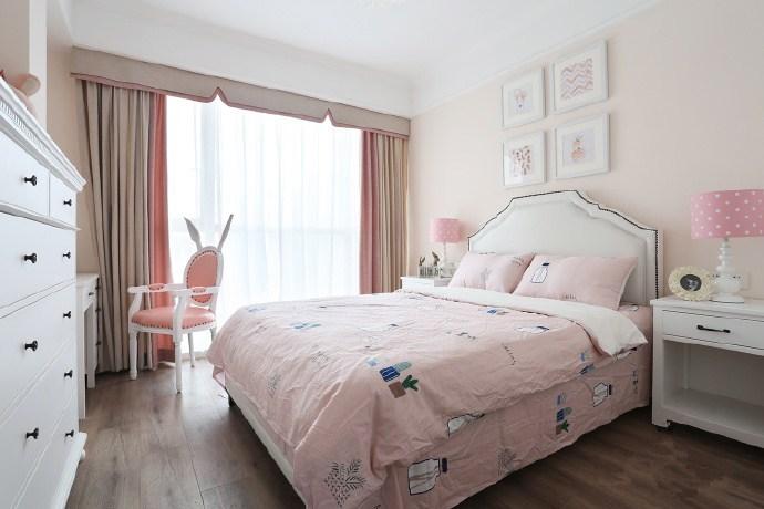欧美风情-114平米二居室整装-装修样板间