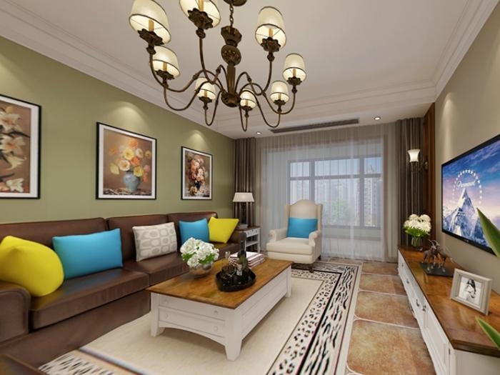 欧美风情-120平米四居室-装修样板间
