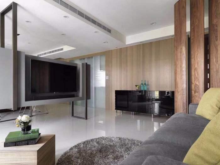 现代简约-75平米三居室-装修样板间