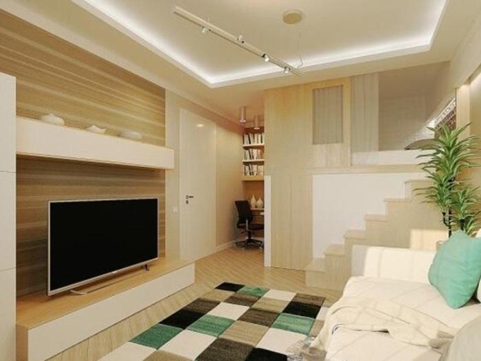 现代简约-30平米一居室-装修样板间