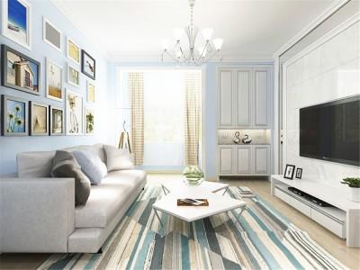 现代简约-88平米二居室装修样板间