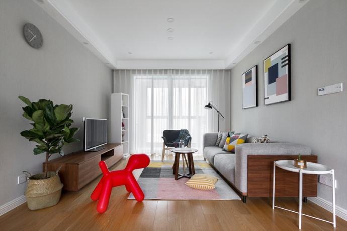 北欧风格-110平米三居室-装修样板间