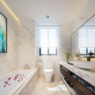 现代简约三居室卫生间装修效果图